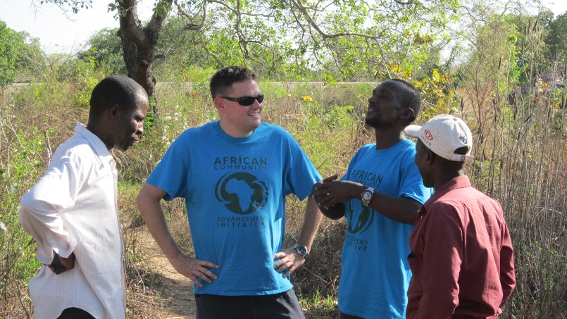 Tanzania Country Director Bonus Caesar, ED Daniel Donovan and two Chumbi representatives