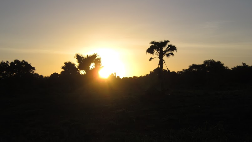 Sunset over Rufiji land