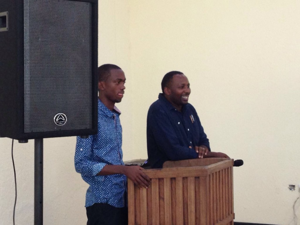 ACAI Finance Director - Victor Mwenda - talks to students about becoming a successful entrepreneur